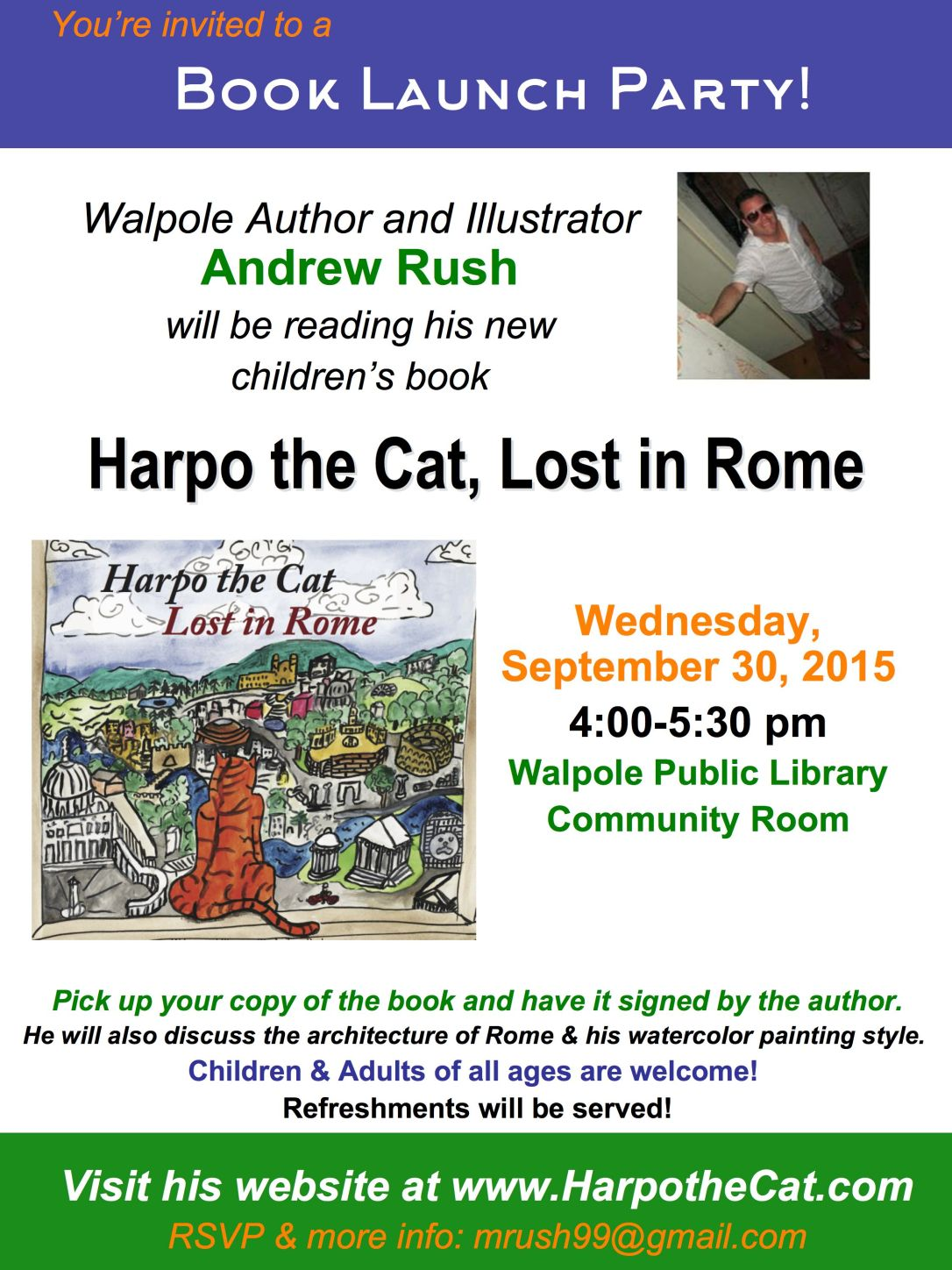Harpo the Cat Book Launch JPG